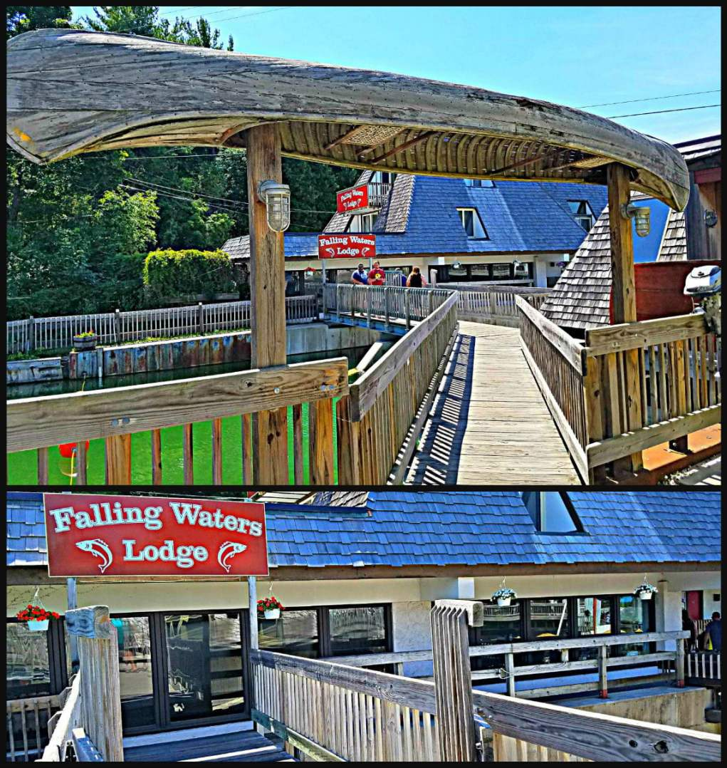 Fishtown USA Leland MI Dam Falling Waters Lodge