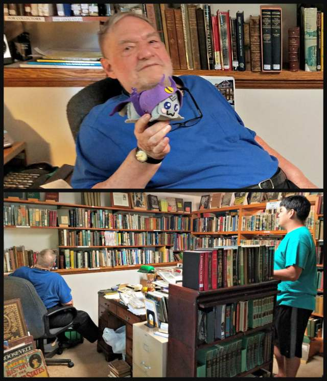Good Old Books owner George Ball