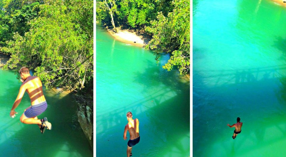 jumping off waterfall semuc champey 3