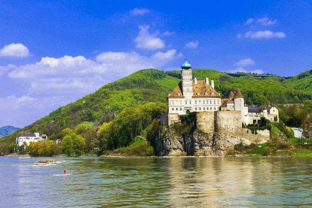 Schloss Schonbuhel Castle on Cliff Austria
