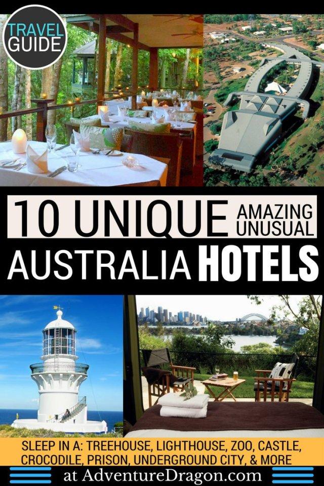 Best Hotels in Australia - 10 Unique Amazing Unusual Australia Hotels