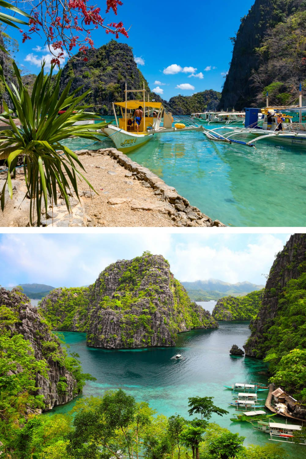 Coron Bay and Kayangan Lake on Coron Island - Most Beautiful Places in the Philippines Photos