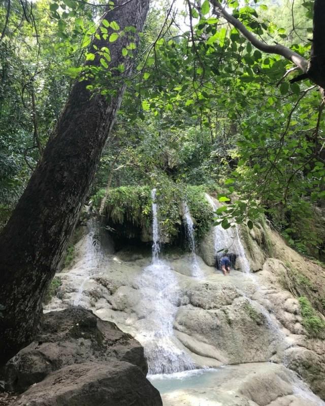 Dong Prucksa waterfall, Erawan National Park, Thailand