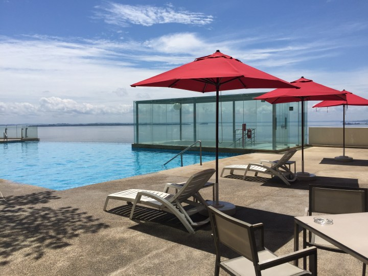 Sky Pool at the Four Points Hotel in Sandakan