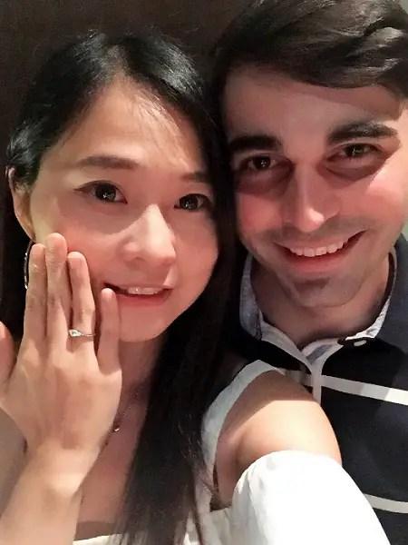 getting engaged in taiwan - shintori
