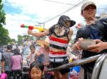 Songkran water splashing festival in Chiang Mai