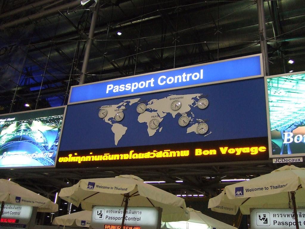 Passport Control at Suvarnabhumi Airport, Bangkok