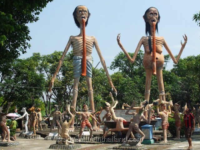 Wang Saen Suk Hell Garden Horror Scary Park in Bang Saeng
