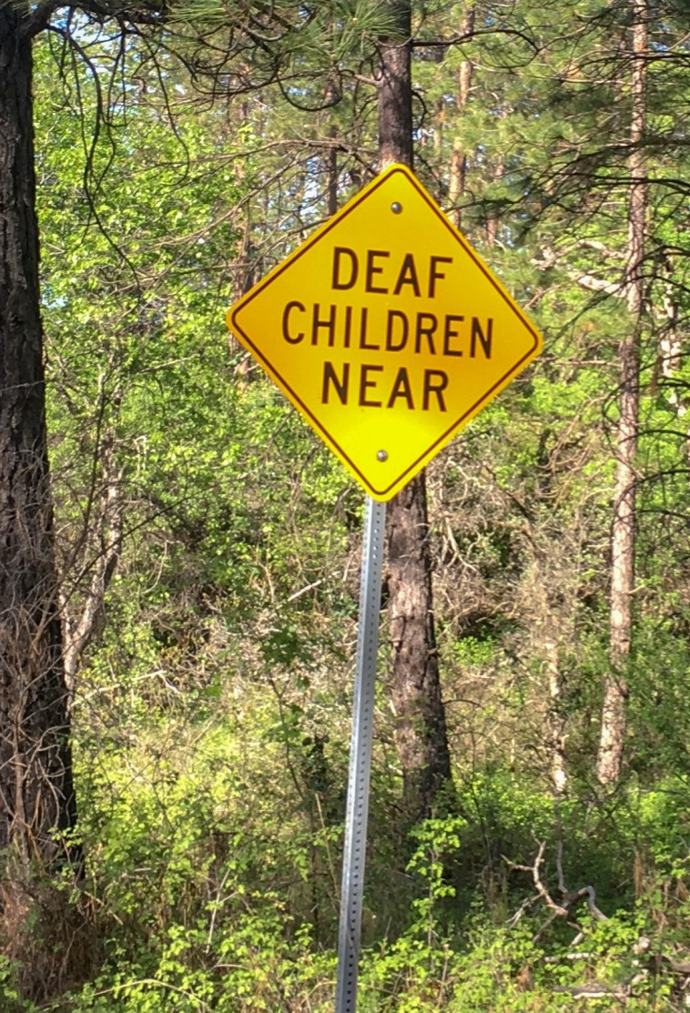 A sign on Black Butte Rd