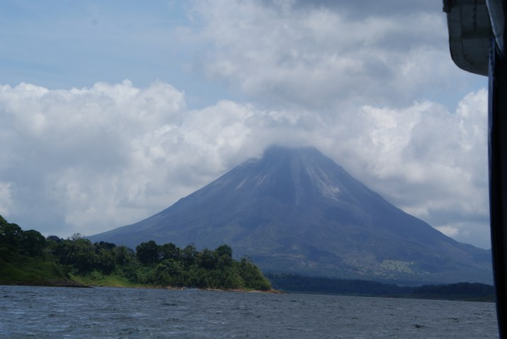 Arenal Volcano on Lake Arenal.