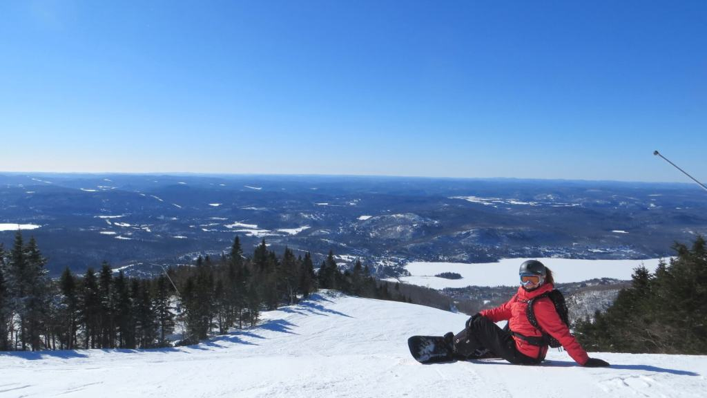 Great views from the top of Tremblant!