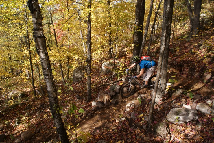 Mountain biking at Mt St Marie.