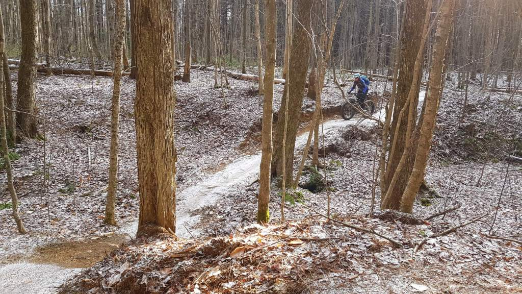 Mountain biking at Larose Forest.
