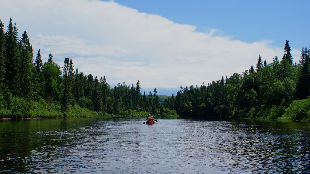 Paddling on the Batiscan River.