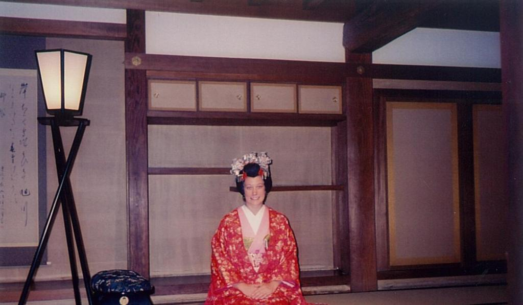 Playing dress up at the Okayama Castle.
