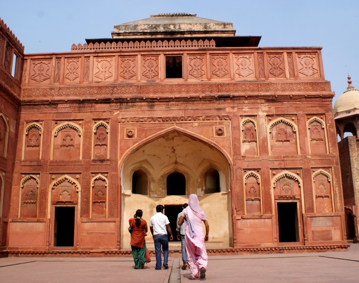 The Agra Fort.