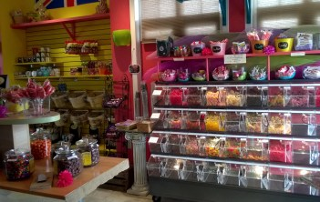 The candy shop.