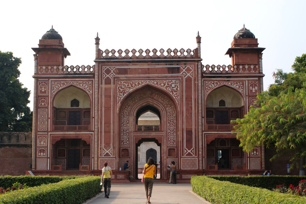 The front entrance gate.