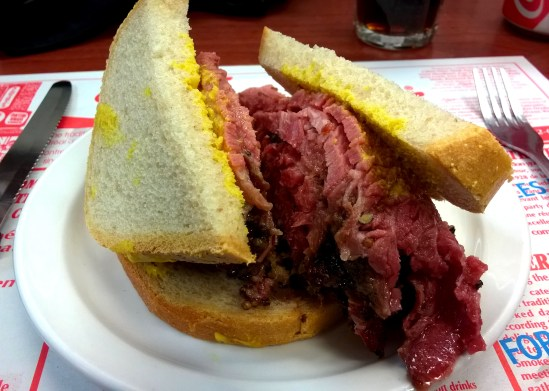 Montreal smoked meat sandwich.