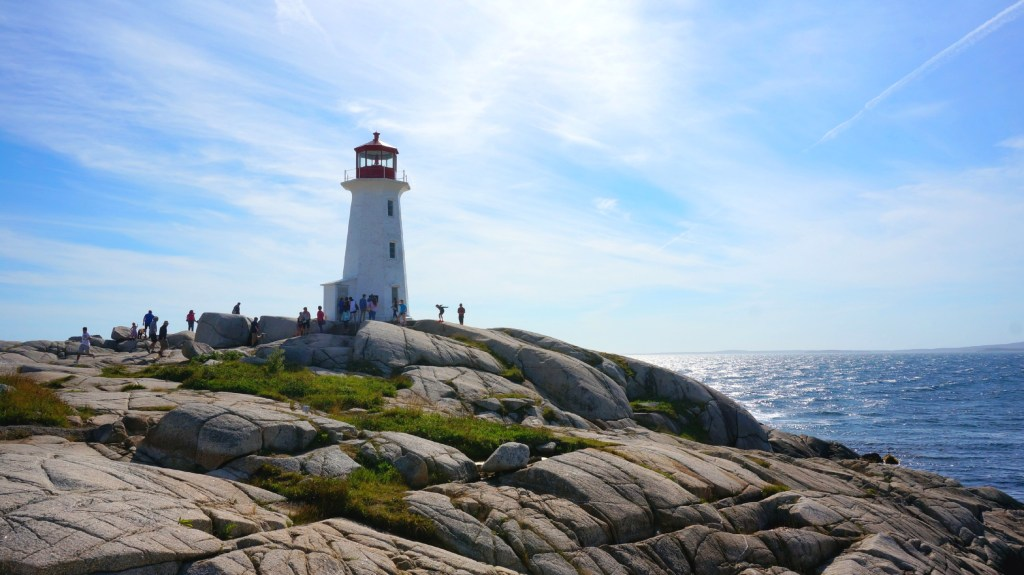 The Peggy's Cove Lighthouse.