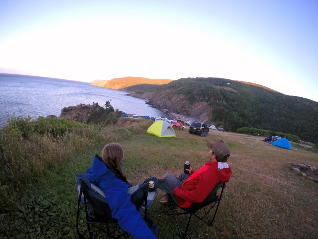 View from our campsite at the privately owned Meat Cove Campground located on the northern most tip of Cape Breton Island.