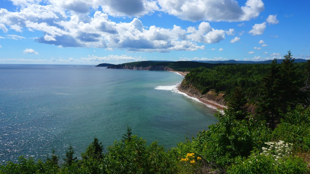 View from the Cabot Trail in Cape Breton Highlands National Park.