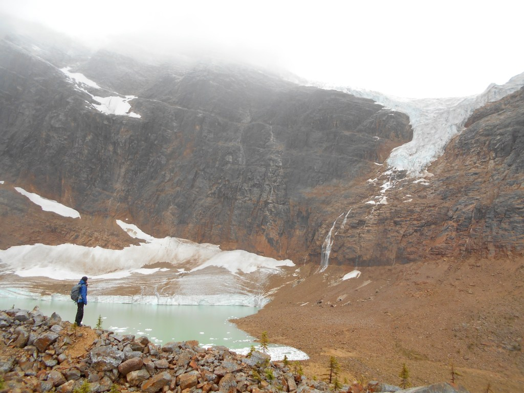 It may have been raining but my dad and I had this glacier all to ourselves.