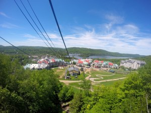Tremblant village from the gondola.