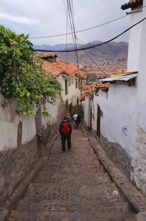 The steep steps we had to climb every day.