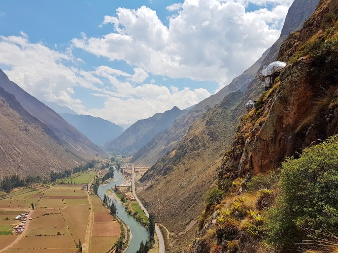 Views of the Sacred Valley from the course.