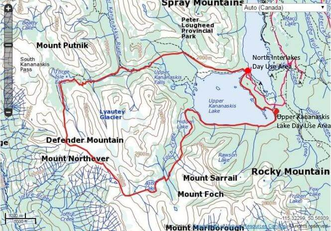 Northover Ridge trail map.