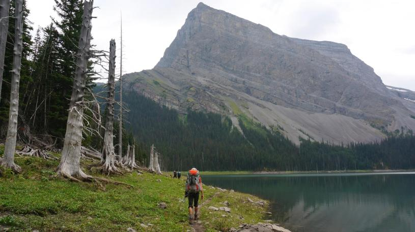 Hiking by Hidden Lake.