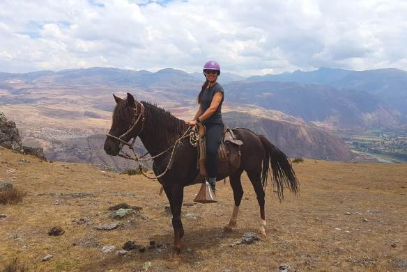 Riding the smaller Peruvian Paso in Peru.
