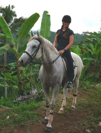 Riding in Bali.