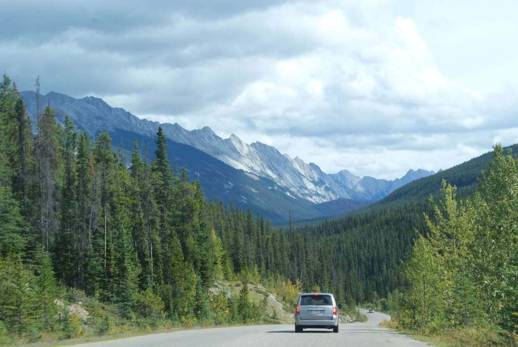 Driving Maligne Lake Rd