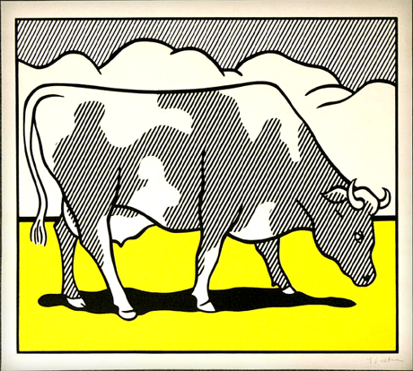 Roy Lichtenstein cow