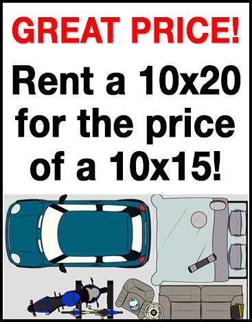 Rent a 10x20 Storage unit in Altoona IA
