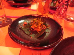 Spanner Crab with Betel Leaves