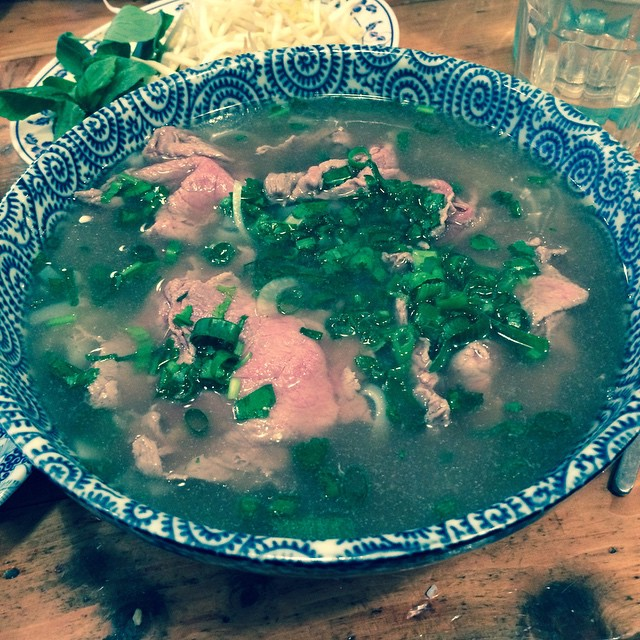 Hanoi Hannah Beef Pho ❤️ hit the spot on this shitty day in Melbourne #melbourne #weather #fourseasons #autumn #hanoihannah #pho #yummy #food