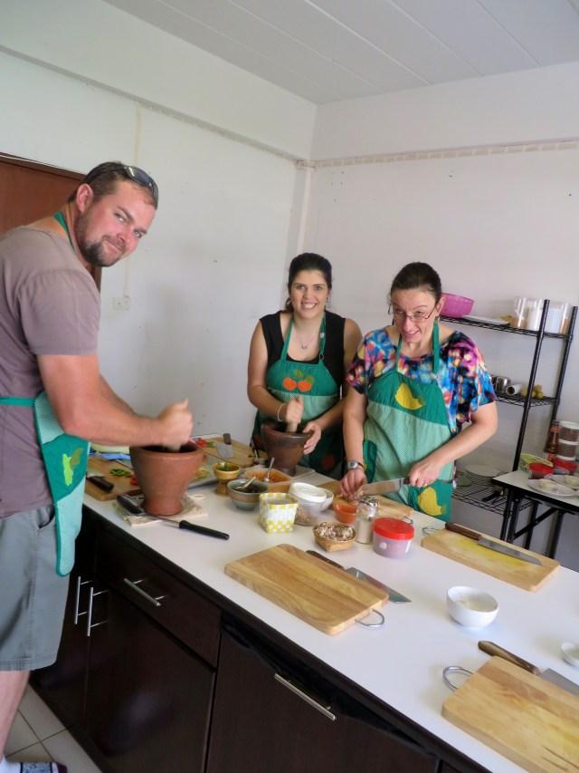 Making Papaya Salad