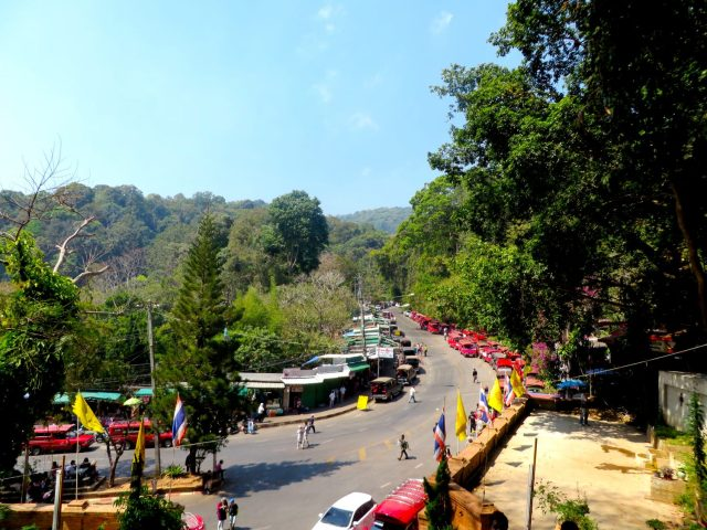 The view from the entrance of Doi Suthep temple