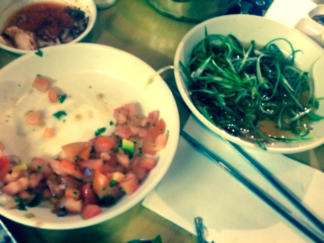 Salads at Mrs Kim's Grill