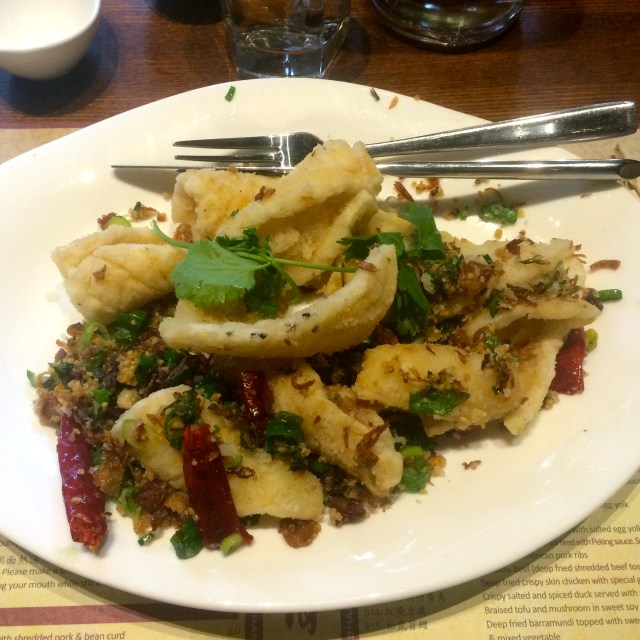 Salt and Pepper Squid at New Shanghai
