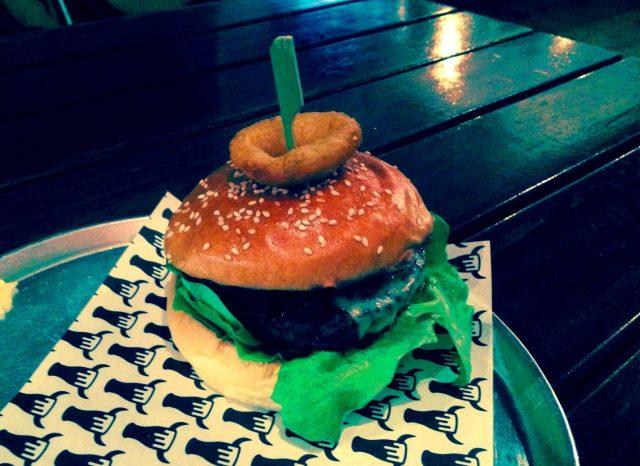 The Beef Burger at Beer and Burger Bar, Richmond