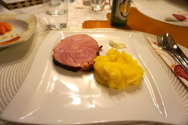 Ham and Mashed Potato. This was so delicious