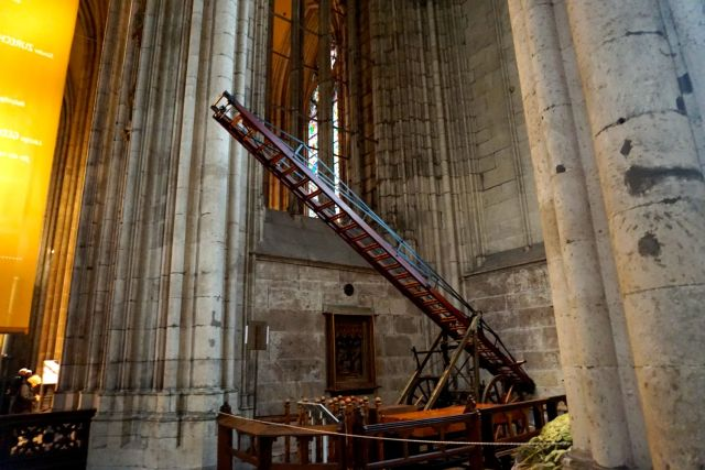 This ladder was left on the cathedral while building was stopped!
