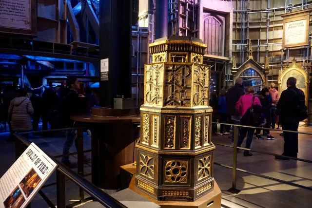 harry potter studios london triwizard cup