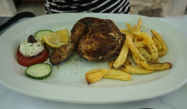 what to eat in greece spit roast