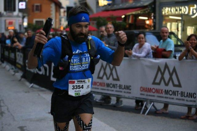 Andre Medeiros no Marathon du Mont-Blanc
