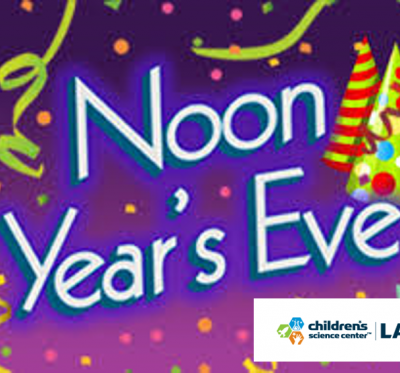 Noon Year's Eve at Children's Science Center Lab